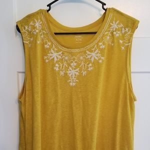 Old Navy Mustard Embellished Sleeveless Top XL
